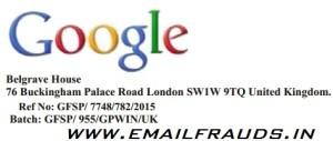 google email fraudas message