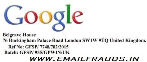 google based lottery world wide web