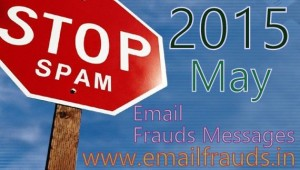 email spam of month may