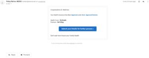 Fake Health Insurance Mails